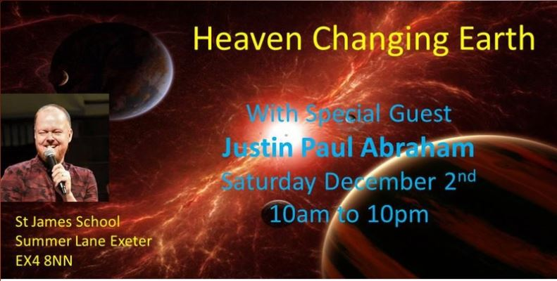 Heaven Changing Earth event – new venue