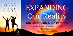 Sons Arise intensive 3 Expanding Our Reality image with link